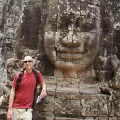 At Bayon, Angkor, Cambodia