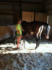 A family photo with Anna (my horse of 15 years) and her newborn, Izzy.