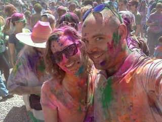 Melissa + Ben - Holi Festival trip