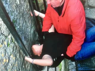 Kissing the Blarney Stone. 2017.