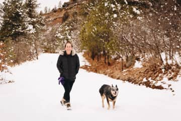 Hiking in the snow (Colorado)