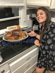 Thanksgiving last year with friends. My 5th turkey!