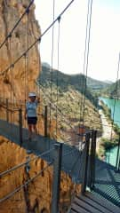 We are not afraid of heights!  This is the Camineto del Rey in Spain