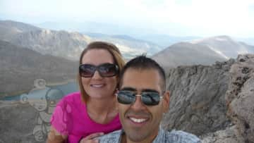 At the top (14,264 ft) of the Mount Evans Scenic Byway! (Mount Evans, Colorado)