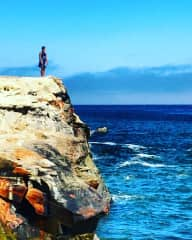Me taking a walk on the coast of Santa Cruz, CA.