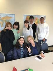 With my students