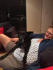 This is one of our housesitting jobs in Perth. Sheamus was an awesome dog!