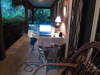 Front porch as outdoor work space!