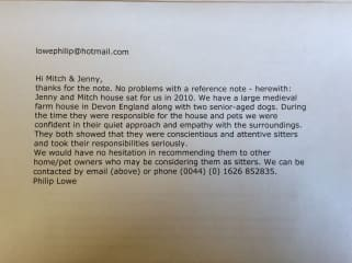 Reference letter from Saskia