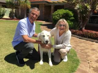 Denis, Chedda and Louise, Australia.