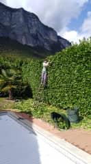 Serge as gardener