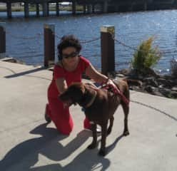Leon and me at our morning walk in Caloundra, QLD, Australia