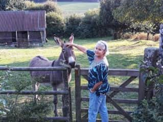 Meeting Darra the donkey in France