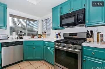 Kitchen with island.