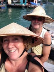 Pete and I on our trip around Halong bay