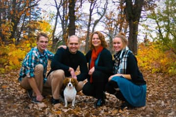 Our family: Noah, Brad, Jenn, Laura and Libby (cavachon and our princess!)