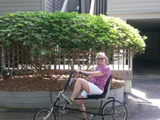Recumbent biking