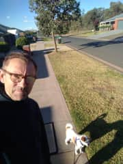 With little Louie in Wodonga/ Australia