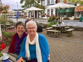 Joy & Judy in Devon, England.