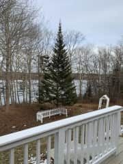 Our Cove from the Deck (Winter)