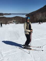 Skiing again after 25 years, March 2019.  I have  always liked sports and stay as active as I can.