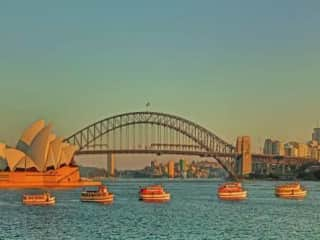 Pa's old Ferries on Sydney Harbour