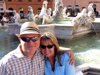 In beautiful Rome - one of our favorite places to visit!