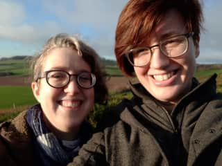 Mara and Hilary on a walkabout in Southern England