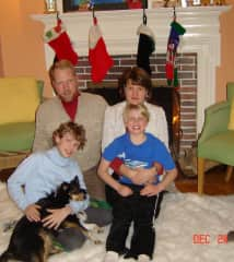 Our family - Bryan, Lisa, Skylar holding Siena and Forrest
