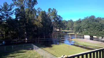 """Our run off pond during the """"great flood"""" several years ago."""