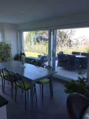 Dining area and garden table