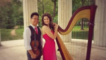 Benjamin Jung and Emily Van De Ven Jung (violinist and harpist)