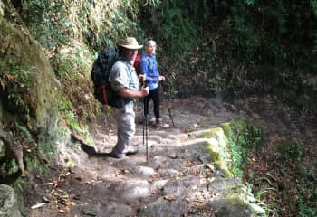 South to Peru - this was the ONLY downhill portion of the hike.