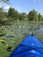 Kayaking at Warner Pond, 20 minute drive