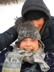 tobogganing - my attempt to get through winter with laughter.