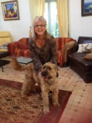 Bacchus, my gorgeous dog with house sit in France.