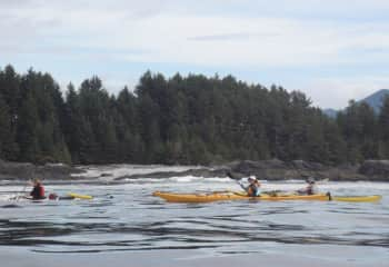 Laurie middle kayak in pacific ocean