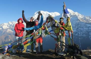 Hiking trip with friends in Nepal.