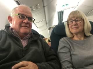 Garry & Trish travelling.