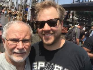 Me and my son John touring the USS Constitution in Boston, MA