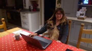 Hamish liked to help us produce House Sitting Magazine