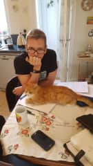 Martin (Trying to study) and Henderson