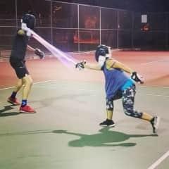 My first day lightspeed saber battling