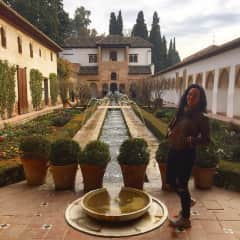 At the Alhambra. Mad about about travelling in general, but adore Spain. :)