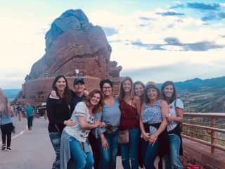 Red Rocks for the Avett Brothers concert.