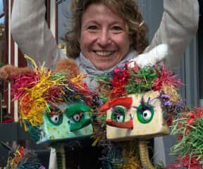 My string puppets Wolfie & Pablina, and I