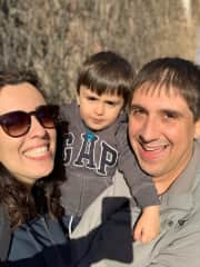 My wife Jana, our son Samuel and I.