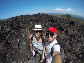 On a volcano in Nicaragua