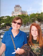 With my granddaughter in Quebec