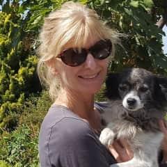 Carolyn with Luna